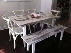 table et banc de cuisine table de cuisine en bois de grange centenaire bois de grange