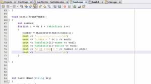 how to create a hash table project in c part 8 print table
