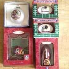 emily decorates with redskins ornaments redskins holidays