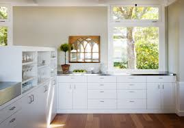 kitchen modern white kitchens with dark wood floors deck bedroom