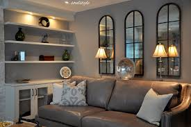 grey leather sofa family room contemporary with charcoal linen