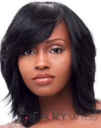 hairstyles for straight afro hair the fresh medium straight black full bang african american wigs for