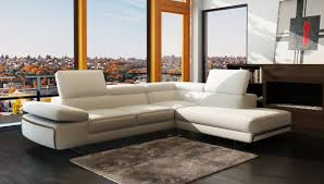 White Italian Leather Sectional Sofa Contemporary White Italian Leather Sectional Sofa