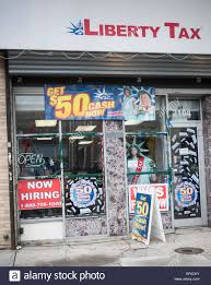 a liberty tax preparation store in harlem in new york on monday