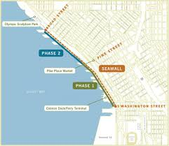 Seattle Terminal Map by Learn About The Elliott Bay Seawall Project Draft Eis Provide