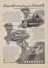 1948 evinrude outboard motor ad zephyr lightfour speedifour