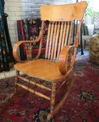 Bent Wood Rocking Chair Antique Oak Bentwood Rocker Rocking Chair And 50 Similar Items