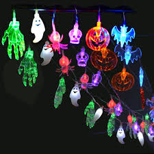 halloween blue bats festive led fairy string party lights 1 7m
