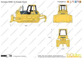 the blueprints com vector drawing komatsu d65e 12 crawler dozer