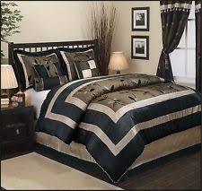 Black And Beige Comforter Sets Nanshing Comforters And Bedding Set Ebay