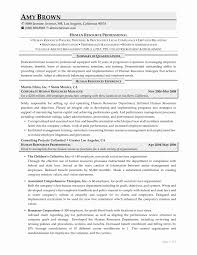latest resume format for hr executive roles 56 inspirational collection of sle resume format for hr