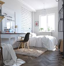 bedroom appealing cool geometric scandinavian bedroom design