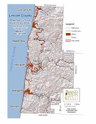 Oregon Tsunami Map by Lincoln2 Jpg