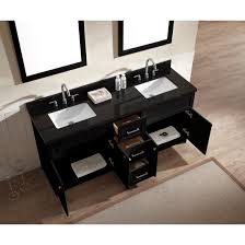 Black Bathroom Vanity With Sink by Ariel Bath F073d Ab Blk Hamlet 73 Double Sink Vanity Set In Black