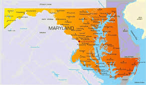 map of maryland map of maryland state map of usa