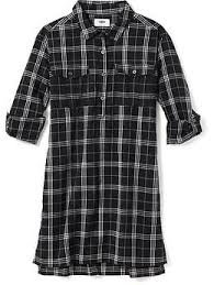 plaid flannel shirt dress for girls old navy