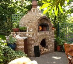outdoor lovable backyard idea for summer natural stone pizza