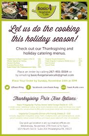 thanksgiving offers basic 4 vegetarian cafe offers vegetarian catering for