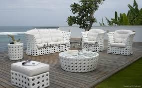 2013 aluminum white pe rattan sofa set gongcheng furniture white