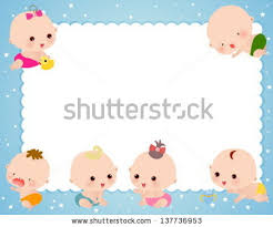 baby frame stock vector 137736953