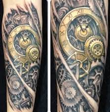56 mechanical gear tattoos