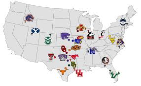Byu Map Sports Bros Podcast Byu And The Big 12 Expansion Rumor Mill