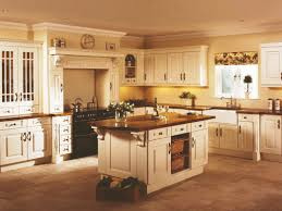 l shape kitchen decoration using yellow kitchen wall paint