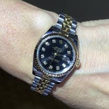 rolex black friday sale rolex 179173 datejust black diamond dial tt ladies watch rolex