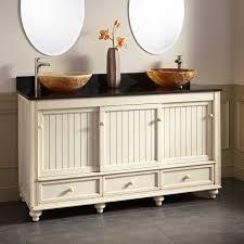 White Bathroom Vanity With Vessel Sink 60