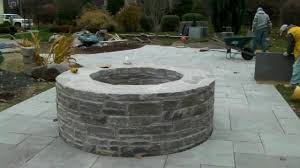 round patio stone fantastic outdoor stone fire pits med art home design posters