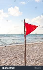 Beach Red Flag Red Warning Flag Blowing Wind On Stock Photo 49446397 Shutterstock