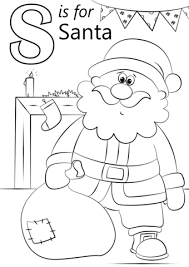 letter santa coloring free printable coloring pages