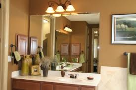 double bathroom vanity with full wall frameless mirror by de
