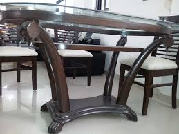glass top dining table with chairs in bangalore archives and