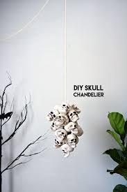 diy skull chandelier little inspiration
