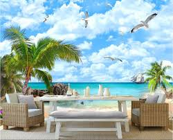 online buy wholesale seascape wall mural from china seascape wall custom mural 3d wallpaper coconut palm beach seascape photo wall paper decor painting 3d wall murals