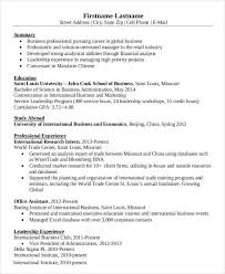 Business Resumes Templates Simple Business Resume Templates 19 Free Word Pdf Documents