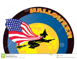 halloween witch with usa flag stock photography image 11189702