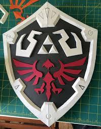 my first foamsmithing link u0027s hylian shield geekdad