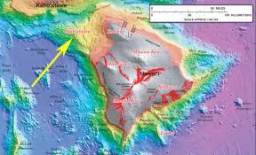 Hawaii Island Map Bathymetric Map Of The Big Island Hawaii Blog