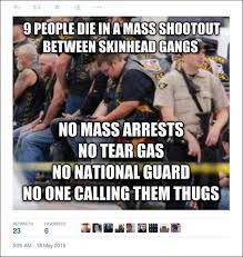 National Guard Memes - leftists exploit biker bloodbath to complain about white privilege