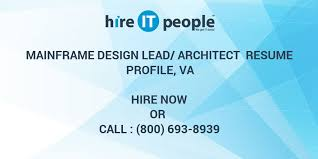 online xpeditor tutorial mainframe design lead architect resume profile va hire it people