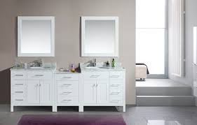 double rectangle white solid wood bathroom vanity cabinet under