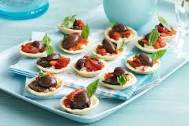 canape cups recipes olive goats cheese chargrilled vegetable