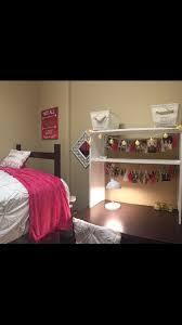 Bedside Shelf Dorm Pink White And Gold Dorm Room Presidential Village 1 University
