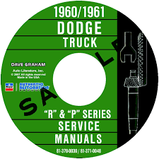 1960 1961 dodge truck repair manuals all models