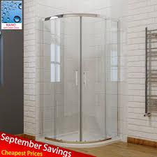 elegant quadrant shower enclosure walk in cubicle door tall 6mm