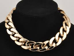 chunky chain choker necklace images Id style aluminium link chain choker chunky shiny curb chain jpg