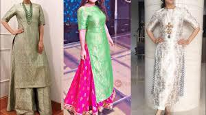 latest brocade kurta with palazzo pants design ideas for diwali