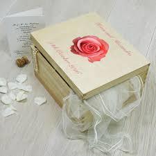 Wedding Flowers Keepsake Personalised Wedding Flowers Keepsake Box